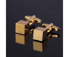 Запонки и зажим комплект золотой ZK103