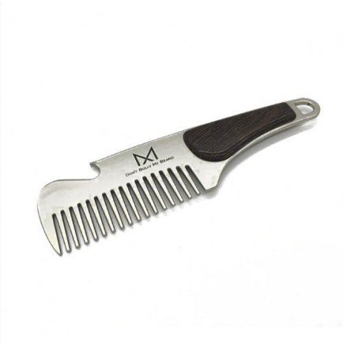Гребень стальной для волос и бороды HB096