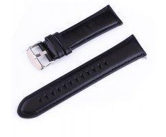 Ремешок из кожи черный быстросъемный ST226