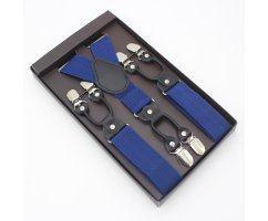 Подтяжки для брюк с двойным замком голубые PT05