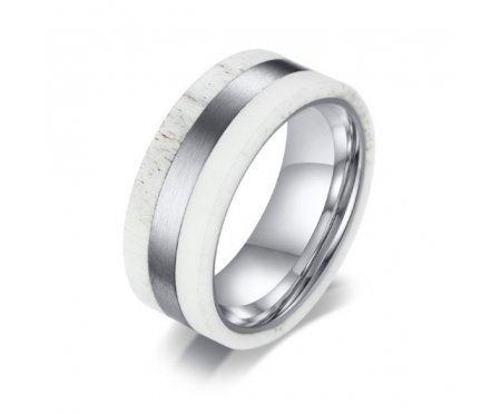 Кольцо из стали белое R213