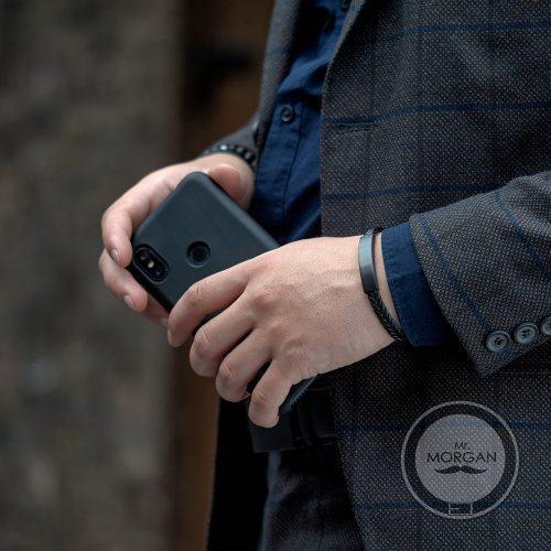 Тонкий кожаный браслет под гравировку QB273