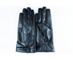 Теплые перчатки мужские на шерсти черные  Mr MORGAN GV015