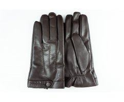 Теплые перчатки мужские на шерсти коричневые  Mr MORGAN GV016