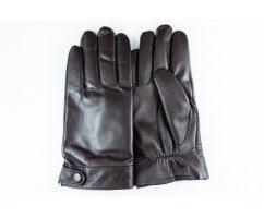 Перчатки мужские из натуральной кожи на меху коричневые Mr MORGAN GV018