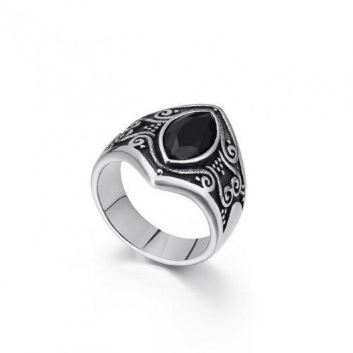 Мужское кольцо с агатом R219