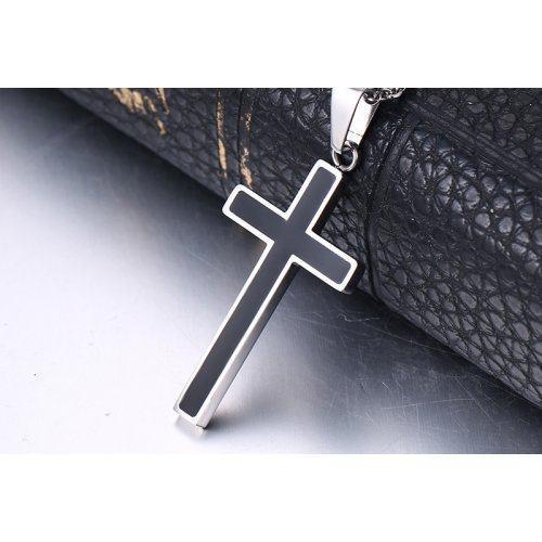 Крест черно-стальной K232