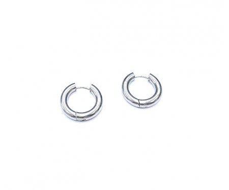 Серьги-кольца из стали массивные 25 мм SE1773