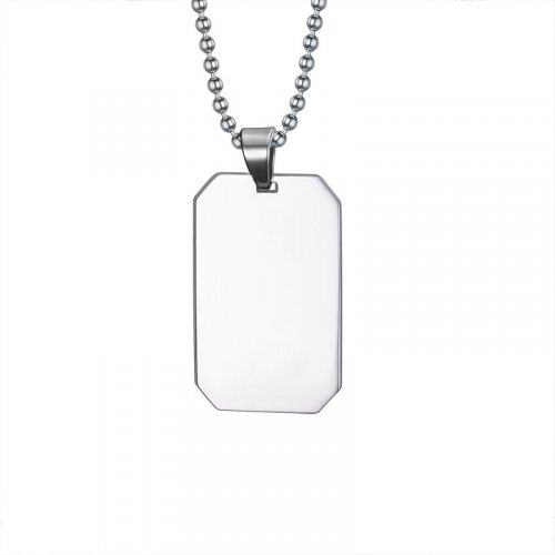 Кулон жетон армейский квадратный K382