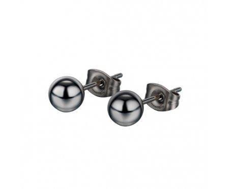 Мужские серьги бусины 6 мм SE1782
