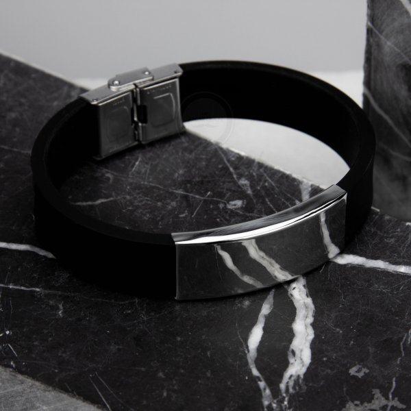 Широкий браслет из каучука под гравировку KB1549