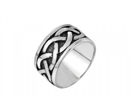 Широкое кольцо с кельтским узором R256