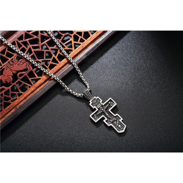 Крест оксидированный из стали K405