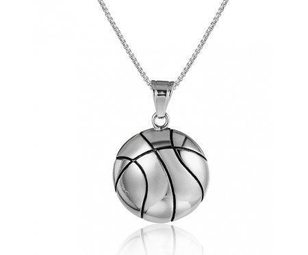Кулон из стали баскетбольный K418