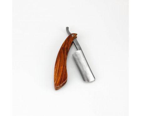 Бритва опасная с рукояткой из дерева HB114