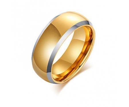 Кольцо из вольфрама золотистое RW1741