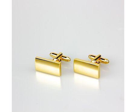Запонки золотистые Базис ZP210