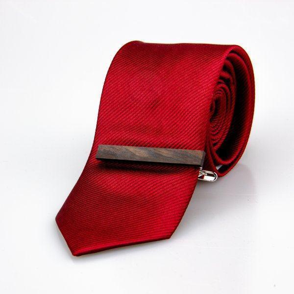Зажим для галстука черный деревянный Z156