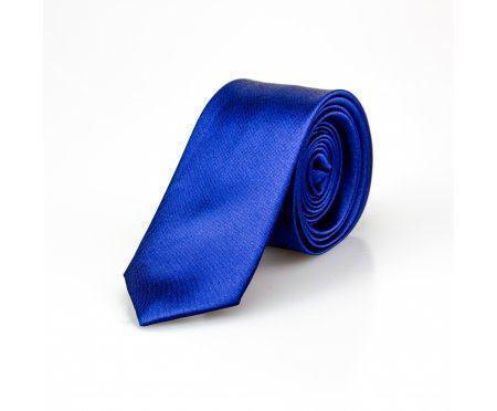 Lambert галстук узкий синий NT43