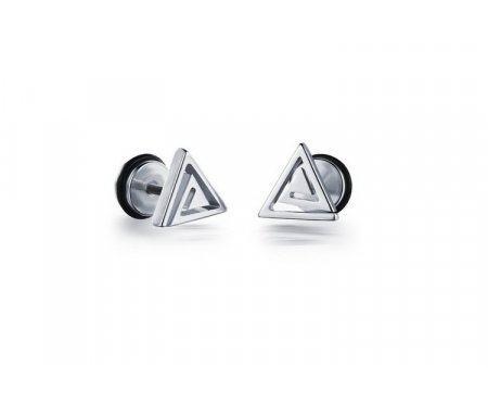 Мужские серьги-треугольники SE1086