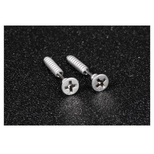 Серьги-шурупы из медицинской стали SE1092