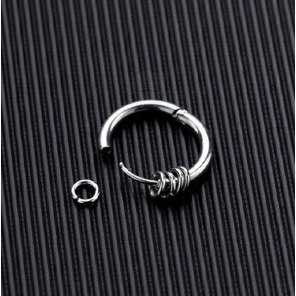 Серьги-кольца из стали 15 мм SE1094