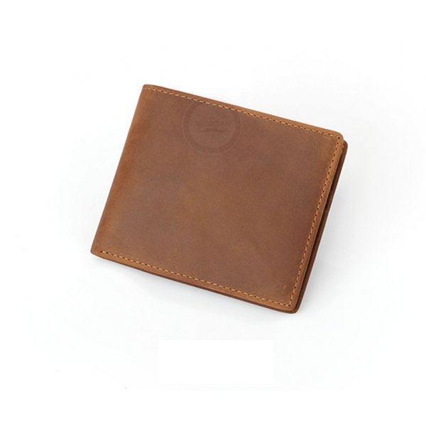 Портмоне коричневое из натуральной кожи Q117
