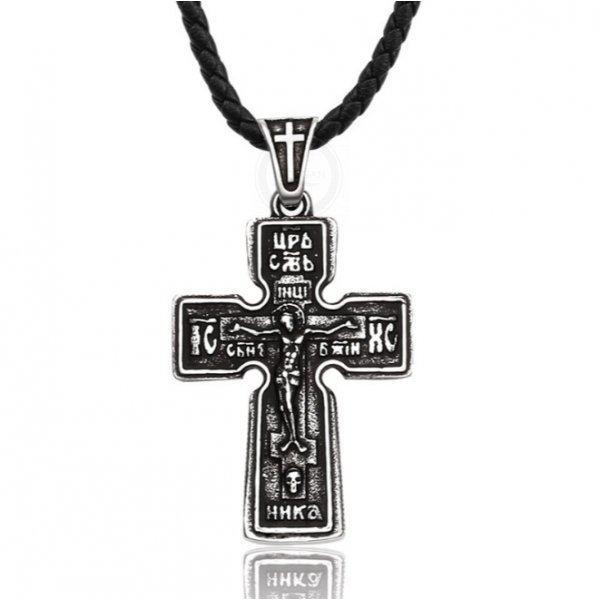 Крест православный из стали массивный K440