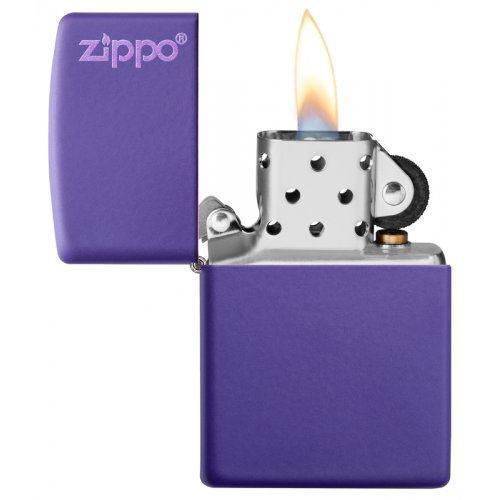 Зажигалка ZIPPO Classic с покрытием Purple Matte Zip237zl