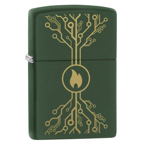 Зажигалка ZIPPO Classic с покрытием Moss Green Matte Zip49221