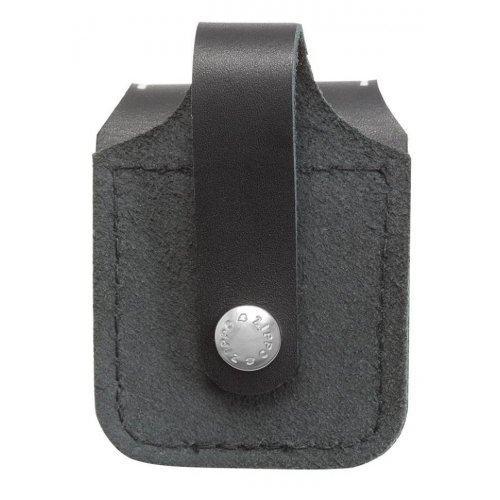 Чехол Zippo кожаный черный с кож. петлей Zip8989