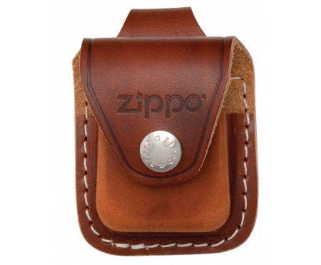 Чехол Zippo кожаный коричневый с кож. петлей Zip89992