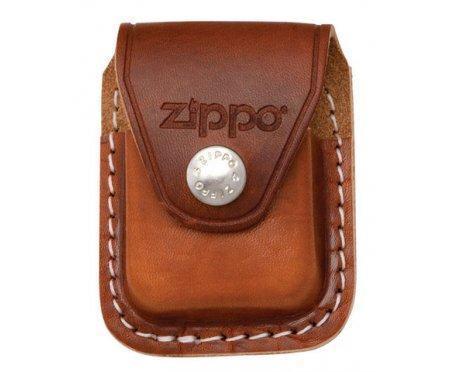 Чехол Zippo кожаный коричневый с мет. клипом Zip89991