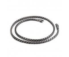 Оксидированная цепочка якорного плетения из стали C054