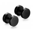 Черные мужские серьги из медицинской стали SE1662