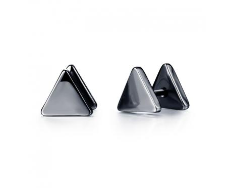 Мужские серьги-треугольники SE16671