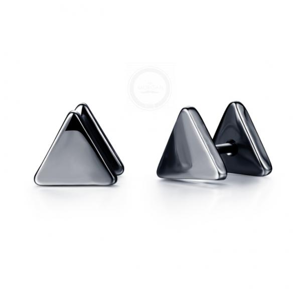 Мужские серьги-треугольники