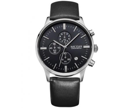 Часы Megir Chrono black W0015