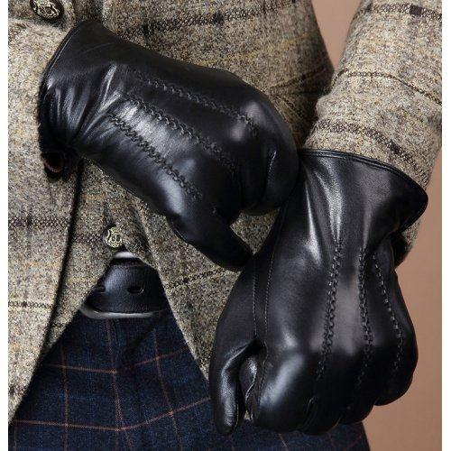 Мужские кожаные перчатки на меху Mr. MORGAN