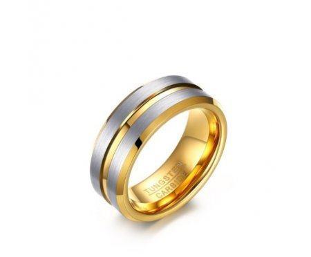 Кольцо из карбида вольфрама золотистое RW016
