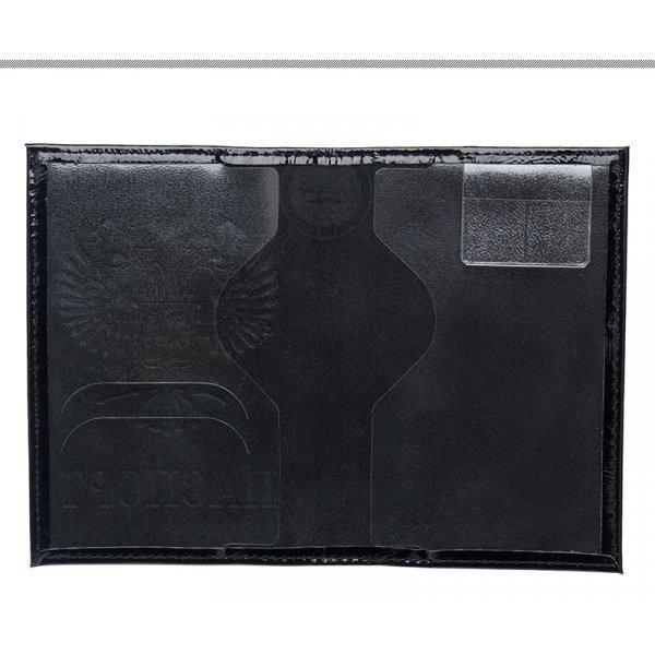 Обложка для паспорта из натуральной кожи с гербом O28