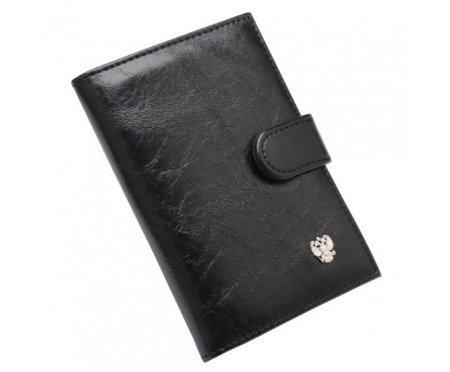 Обложка для паспорта и документов на застежке с гербом O04