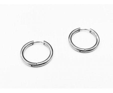 Мужские серьги кольца из стали 18 мм SE1709