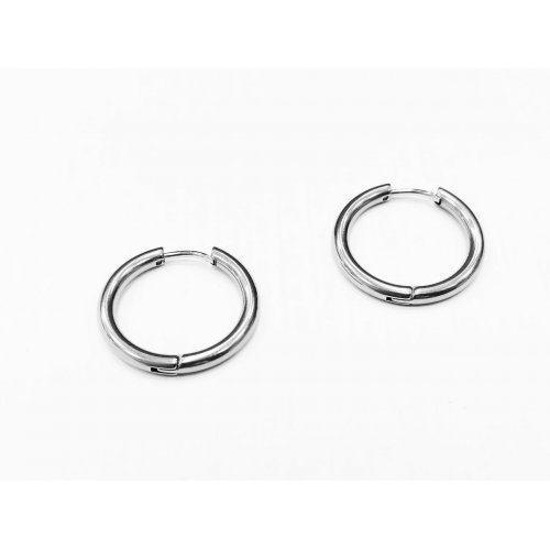 Мужские серьги кольца из стали 20 мм SE1709