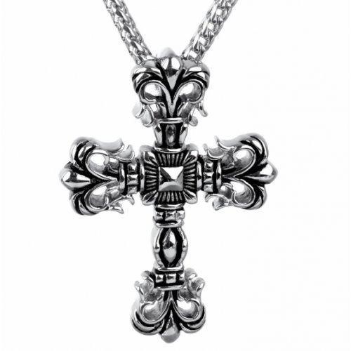 Кулон крест из стали массивный