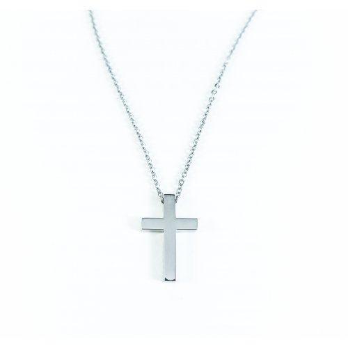 Кулон крест из стали