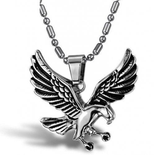 Кулон стальной Орёл
