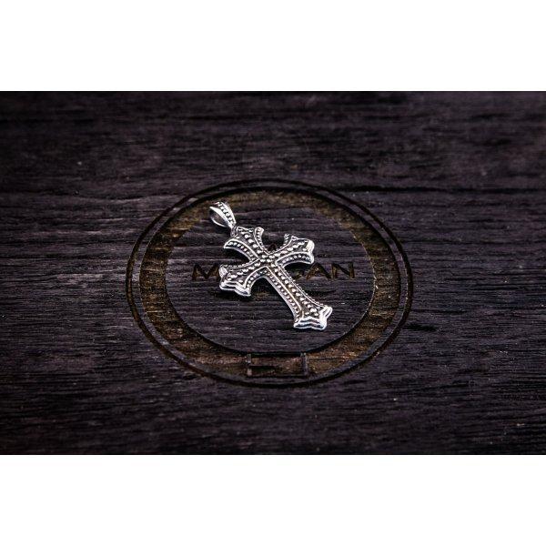 Кулон Крест стальной