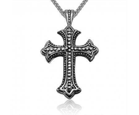Кулон Крест стальной K100