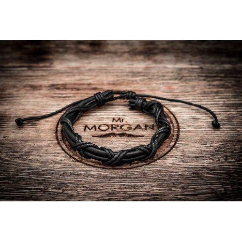 Браслет плетеный черной нить